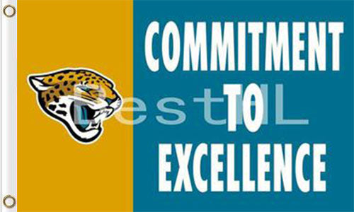 Jacksonville Jaguars Commitment To Excellence Flags 3ftx5ft