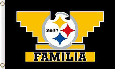 Pittsburgh Steelers Familia Flags 3ftx5ft