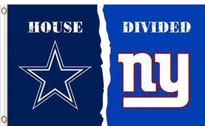 Dallas Cowboys vs New York Giants Divided Flag