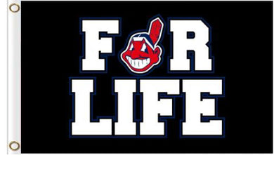 Cleveland Indians For Life flags 3ftx5ft