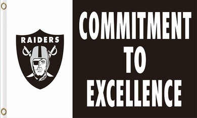 Oakland Raiders Commitment to excellence Flags 3ftx5ft
