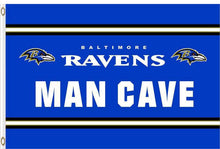 Load image into Gallery viewer, Baltimore Ravens Man Cave Flag 3x5ft