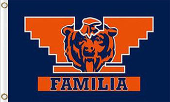 Chicago Bears Banners Familia Flags 3ftx5ft