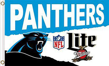 Carolina Panthers Lite Flag  3ftx5ft