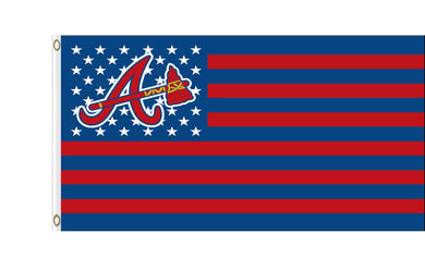 Atlanta Braves Stars and Red Stripes Banner flags 3ftx5ft
