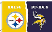 Load image into Gallery viewer, Pittsburgh Steelers vs Minnesota Vikings Divided Flag