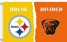 Load image into Gallery viewer, Pittsburgh Steelers vs Cleveland Browns Divided Flag