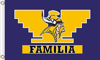 Minnesota Viking Familia Flags 3ftx5ft