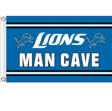 Detroit Lions MAN CAVE Outdoor flag 90x150cm