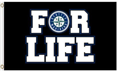 Seattle Mariners For Life flag 3ftx5ft