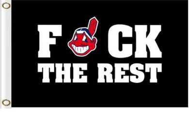 Cleveland Indians F*ck The Rest flags 3ftx5ft