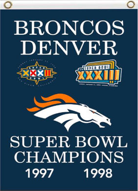 Denver Broncos 1997 1998 super bowl champion flag 90x150cm