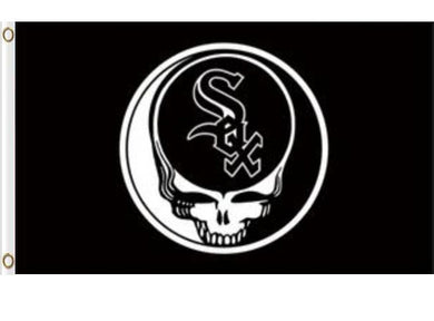 Chicago White Sox Dead Skull Banner flags 3ftx5ft