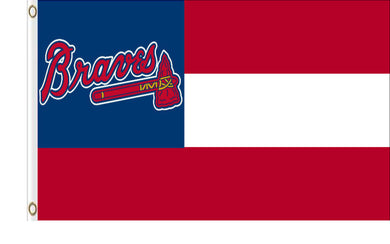 Atlanta Braves Nation State Banner flags 3ftx5ft
