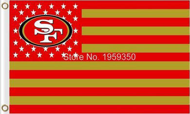 San Francisco 49ers Flag with Star and Stripe 3ftx5ft