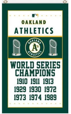 Oakland Athletics World Series Champions Banner flag 3ftx5ft