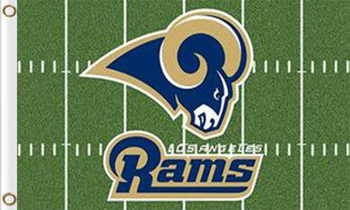 Los Angeles Rams Green Flags 3ftx5ft