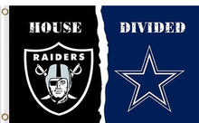 Load image into Gallery viewer, Oakland Raiders vs Dallas Cowboys Divided Flag
