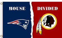 Load image into Gallery viewer, New England Patriots vs Washington Redskins Divided Flag
