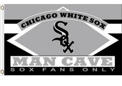 Chicago White Sox Man Cave Banner flags 3ftx5ft