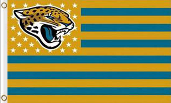 Jacksonville Jaguars Flag with Star and Stripes 3FTx5FT