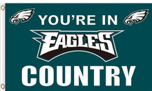 Load image into Gallery viewer, Philadelphia Eagles Cave Sport Team Flags 3FTx5FT