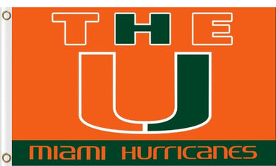 Miami Hurricanes Hand Flag 3*5ft