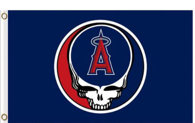 Los Angeles Angels Dead Skull Flag 3x5ft