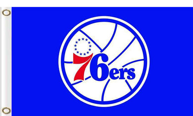 Philadelphia 76ers logo and star-spangled flags 90x150cm