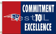 Load image into Gallery viewer, New England Patriots Commitment To Excellence Flag 3ftx5ft