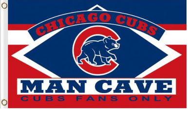 Chicago Cubs Man Cave Banner flag 3ftx5ft