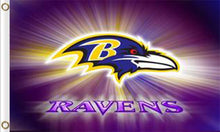 Load image into Gallery viewer, Baltimore Ravens Team Logo Flag 3ftx5ft