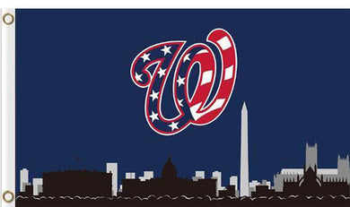 Washington Nationals skyline 3ftx5ft