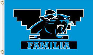 Carolina Panthers Familia Flag  3ftx5ft