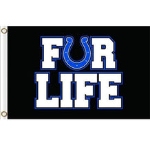 Load image into Gallery viewer, Indianapolis Colts FOR LIFE flags 3ftx5ft Banner 100D