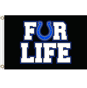 Indianapolis Colts FOR LIFE flags 3ftx5ft Banner 100D