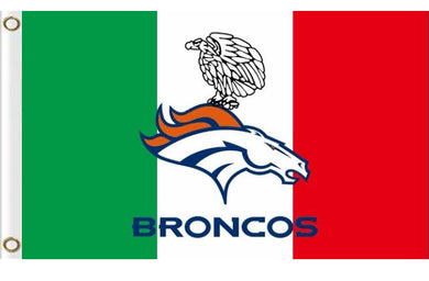 Denver Broncos 3 Colors Polyester Flag Banner 3x5ft