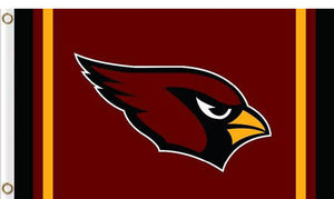 Arizona Cardinals Logo Two Strip Sport Flags 3ftx5ft