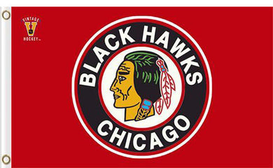 Chicago Blackhawks logo flag 3x5 FT