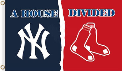 Boston Red Sox Vs New York Yankees House Divided flags 3ftx5ft