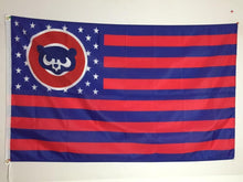 Load image into Gallery viewer, Chicago Cubs with Star and Stripe 3x5FT