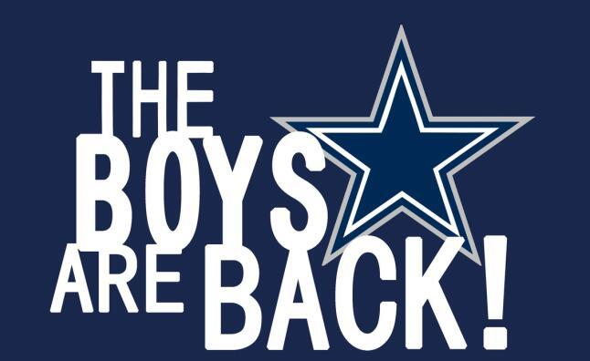 Dallas Cowboys the boys are back flag 3ftx5ft
