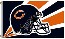 Load image into Gallery viewer, Helmet Chicago Bears Banners Flags 3ftx5ft