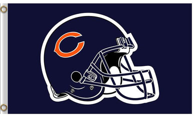 Helmet Chicago Bears Banners Flags 3ftx5ft