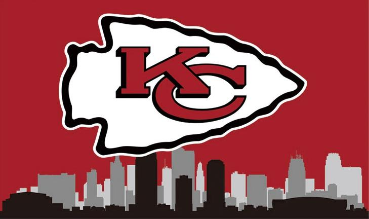 Kansas City Cheifs Logo Sports Flags 3ftx5ft