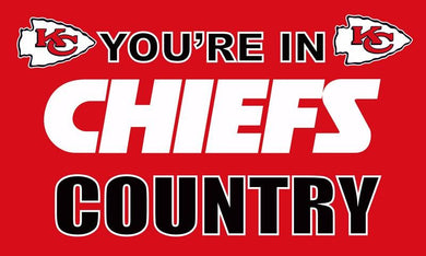 Kansas City Cheifs In Country Flags 3ftx5ft