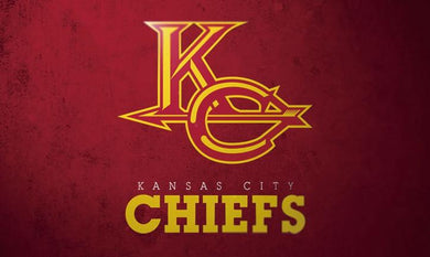 Kansas City Cheifs Team Logo Sports Flags 3ftx5ft