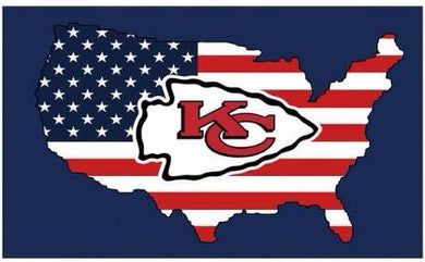 Kansas City Cheifs US Flags 3ftx5ft