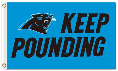 Keep Pounding Carolina Panthers Flag 3ftx5ft