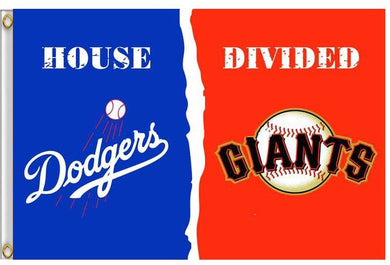 Los Angeles Dodgers vs San Francisco Giants house divided Flag 3ft x 5ft